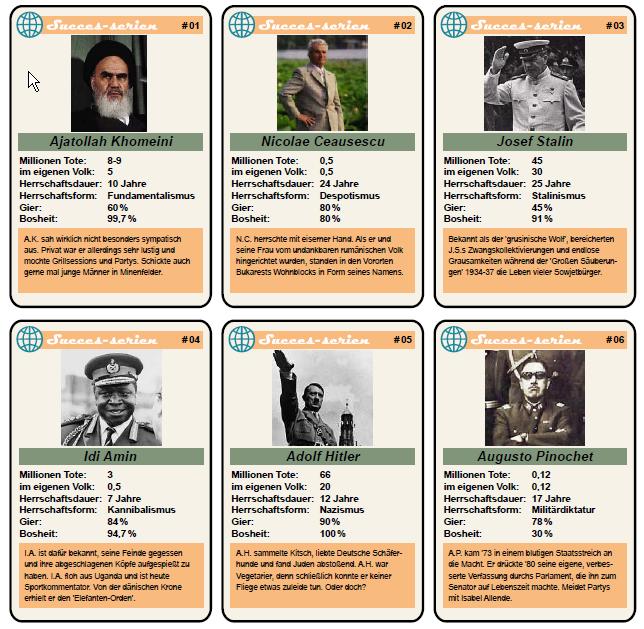 diktatoren liste