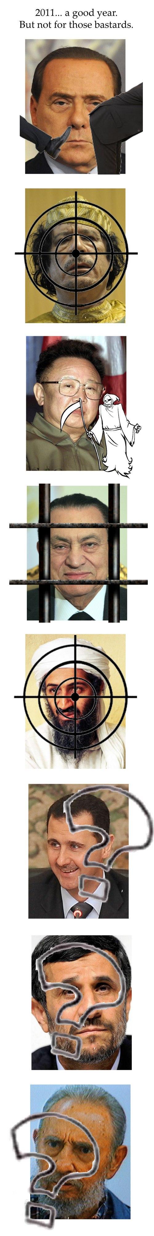 bastards2001 - Berlusconi, Gaddafi, Kim Jong-il, Mubarak, bin Laden, al-Assad, Ahmadinedschad